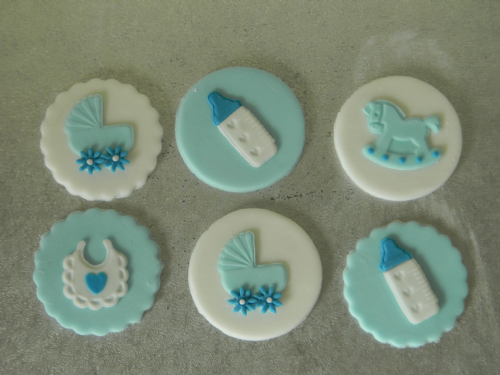 12 Baby Shower Cupcake Toppers